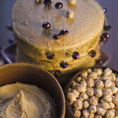 """[ RECETTE FLUFFIE ] - Pancakes aux Pois Chiches (au """"lait"""" d'épeautre & farine semi-complète)"""