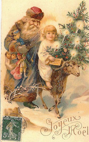 carte ancienne père Noël