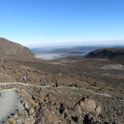 Sur les pas de Frodon sur la Tongariro Alpine Crossing...