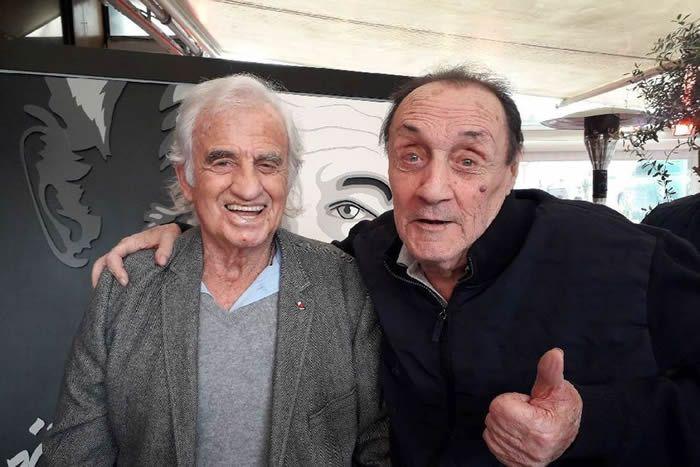 Jean Panisse et son ami Jean-Paul Belmondo avec lequel il a tourné trois films. • © DR