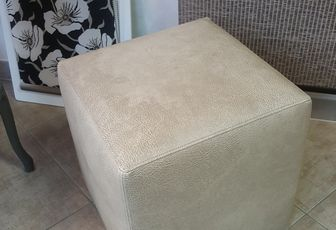 realisation pouf assise mousse rigide arabesque