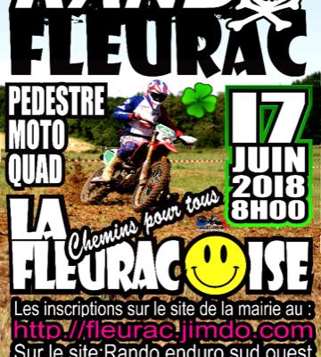 """Rando moto-quad """"La Fleuracoise"""" (24), le 10 juin 2018"""