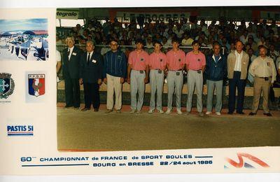 1986 Championnat de France Quadrettes BOURG EN BRESSE Arbitrage