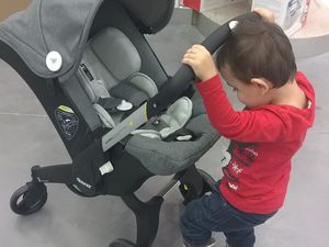 Test avec baby sécurange 10kg env. 86cm