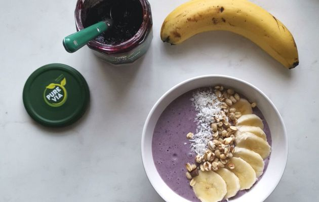 Smoothie bowl Myrtille-banane-coco