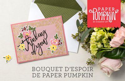 Préparez vous a accueillir Bouquet d'espoir de Paper Pumpkin  Stampin'Up!