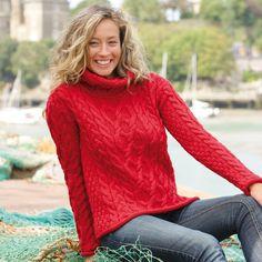 Zara pull femme rouge