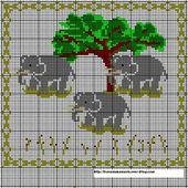 Une petite grille éléphant, un porte bonheur - Jaffy-Fleur de Lys