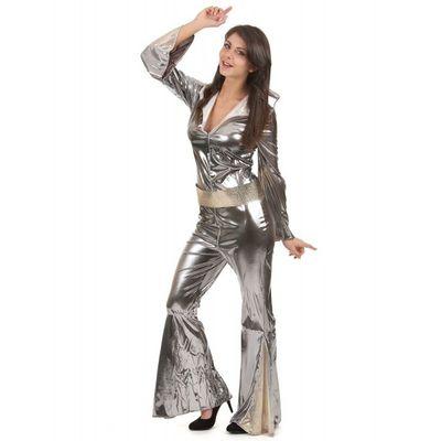 Combinaison Disco Argentée pour Femme
