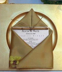 Style de Mariage : Mariages décorés selon une Couleur or