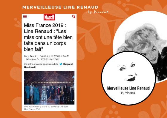 """PRESSE WEB: Miss France 2019 : Line Renaud : """"Les miss ont une tête bien faite dans un corps bien fait"""""""