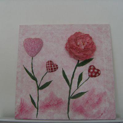 Tableau coeur fleur