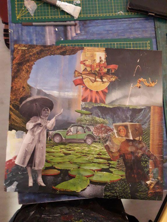 18 et 19 août, les collages de Sylvie, Christine et Zoé...admirez !!!
