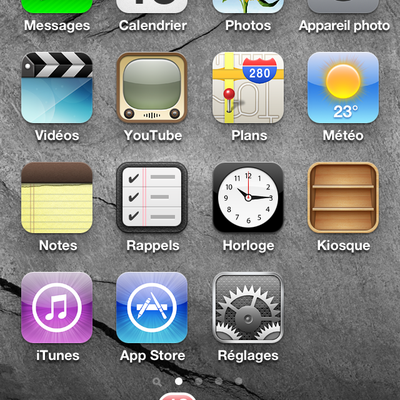 iPhone - Zimbra - Synchro des dossiers