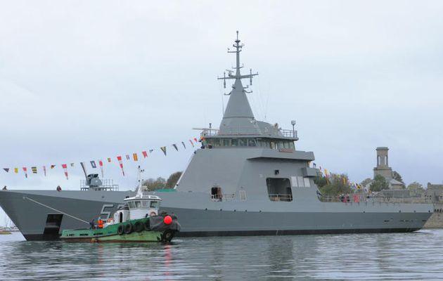 Naval Group – Le patrouilleur argentin ARA Piedrabuena mis à l'eau à Concarneau