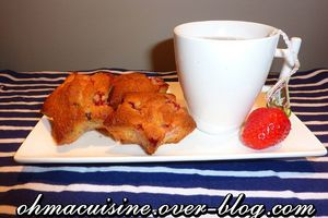 Muffins fraise et chocolat noir
