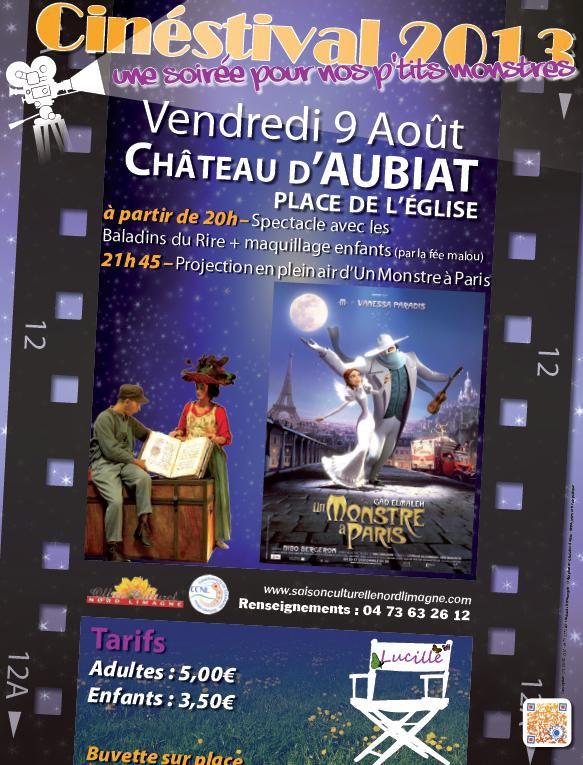 Cinestival, ce sont trois dates en juillet et août, trois films sur grand écran en plein air, dans trois lieux exceptionnels, avec des animations, concerts, expostions, jeux, pique-nique... en rapport avec le film. Coût d'entrée : 5€/3,50€