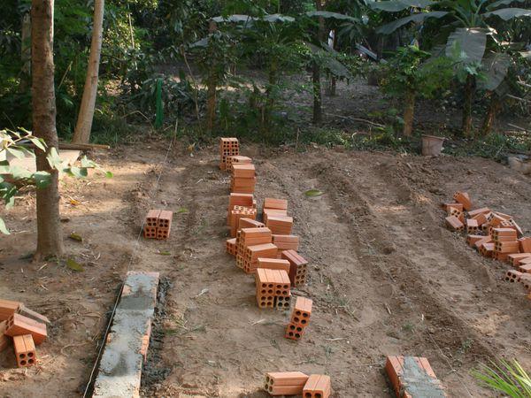 Construction et préparation du potager