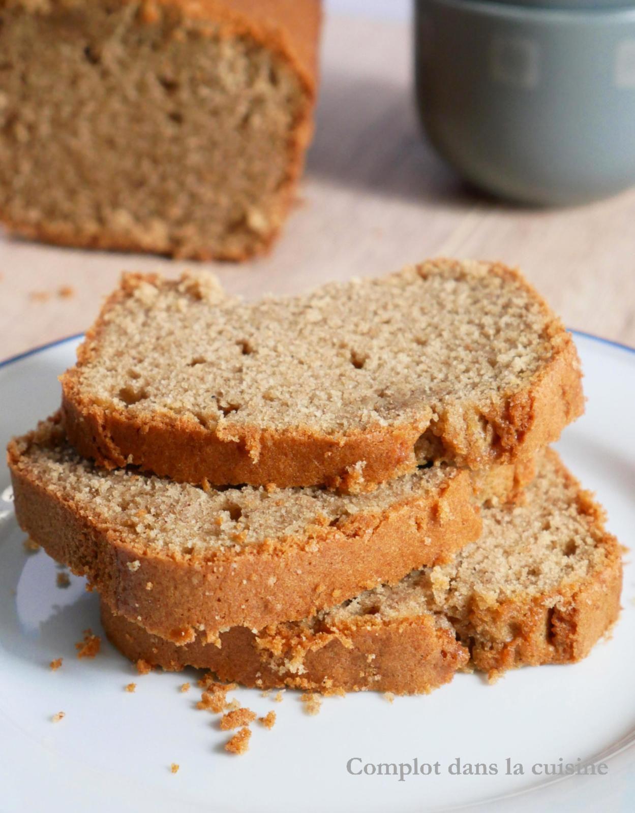 Cake amande et farine de châtaigne - The cosy cake