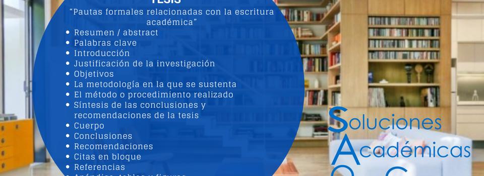 """PROTOCOLO DEL PLAN DE INVESTIGACION TESIS """"Pautas formales relacionadas con la escritura académica"""""""