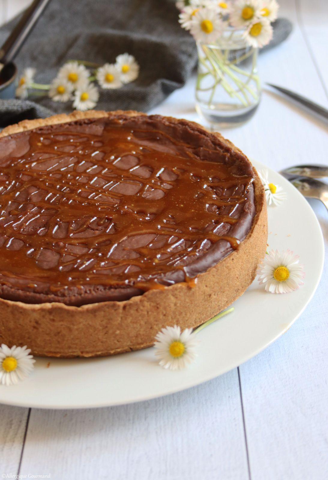 Flan pâtissier au chocolat sans gluten sans lait sans œufs