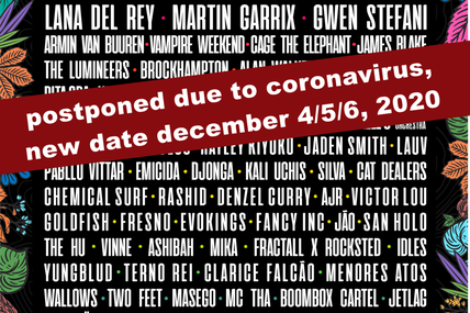 ⚠ Lollapalooza 2020 in Brazil, postponed due to coronavirus ⚠
