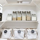 DIY Pantry Baskets with Wooden Frame (very inexpensive to make!)   Make It and Love It