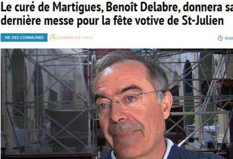 DERNIÈRE MESSE À MARTIGUES DU PÈRE BENOÎT DELABRE