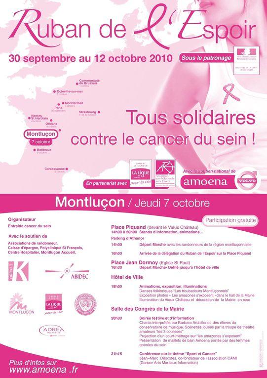 10 villes étapes: 30 septembre au 12 octobre 2010 -Paris jeudi 30 septembre -Communauté du Bruaysis vendredi 1 octobre -Montfermeil samedi 2 octobre -Octeville-sur-Mer dimanche 3 octobre -St Herblain lundi 4 octobre -Bordeaux mardi 5 octobre