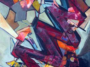 Peintures et collages de Ladin Sabras (réalisés non pas en 9 mois, mais en à peine plus de 9 minutes)