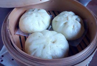Brioche vapeur au poulet ( Banh bao )