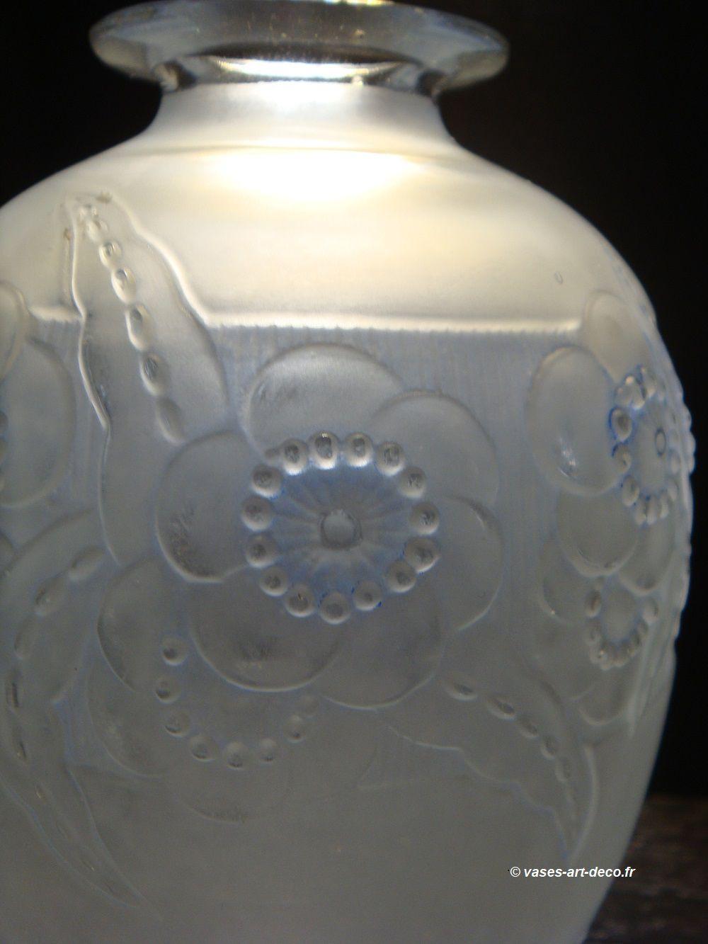 """Vase """"Lea Fleura"""" - Patine bleue - Détail"""