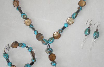 Nouvel ensemble de bijoux en pâte polymère