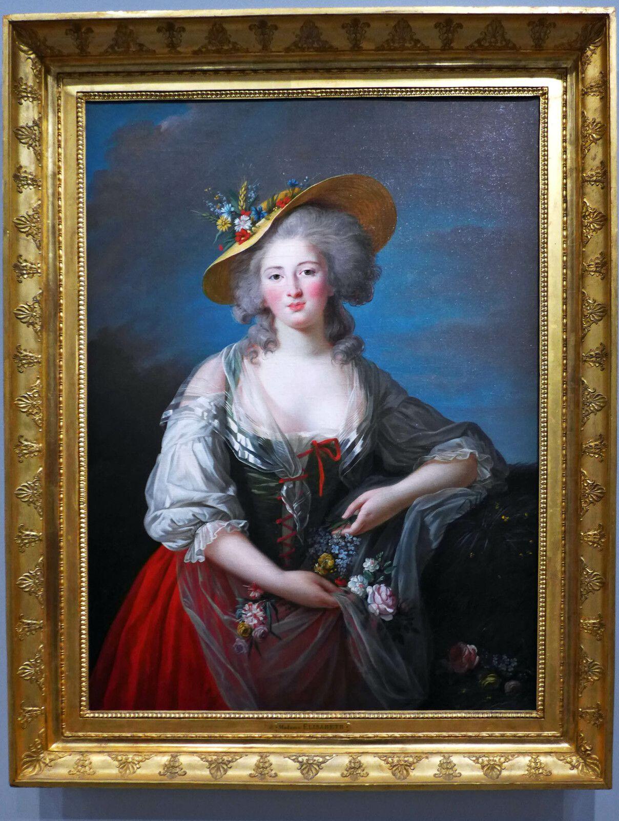 Elisabeth-Louise VIGEE LE BRUN, Elisabeth Philippine Marie Hélène de France (1782), huile sur toile. France, Versailles, musée national des châteaux de Versailles.