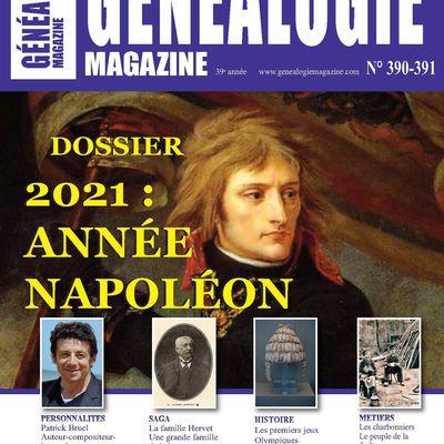 Découvrez le n° 390-391 de Généalogie Magazine