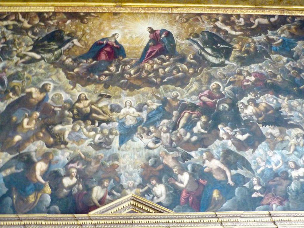 Jacopo Robusti detto il Tintoretto et Domenico Robusti detto Tintoretto, le Paradis (1588-1594), salle du Grand Conseil, 7 x 22 m