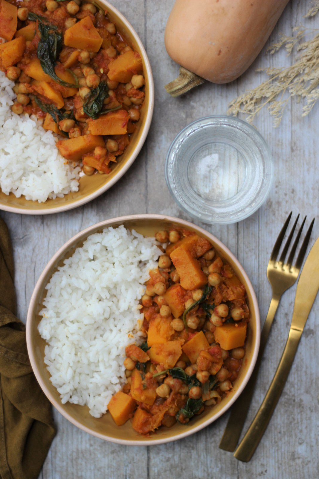 curry butternut pois chiche