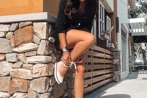 Rompers with Castañer Wedges
