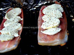 Toasts Au Jambon d'Italie, Mozzarella & Basilic