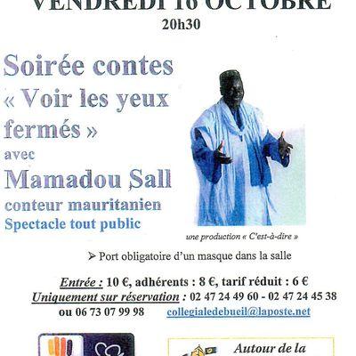 16 octobre : soirée contes à Bueil-en-Touraine