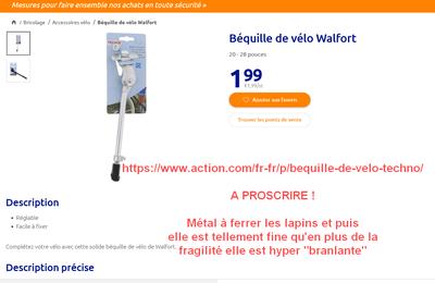 Sélection Achat Magasin Action - Accessoires et Pièces Vélo