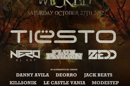 Tiësto at Something Wicked Festival 27 october 2012, cancelled