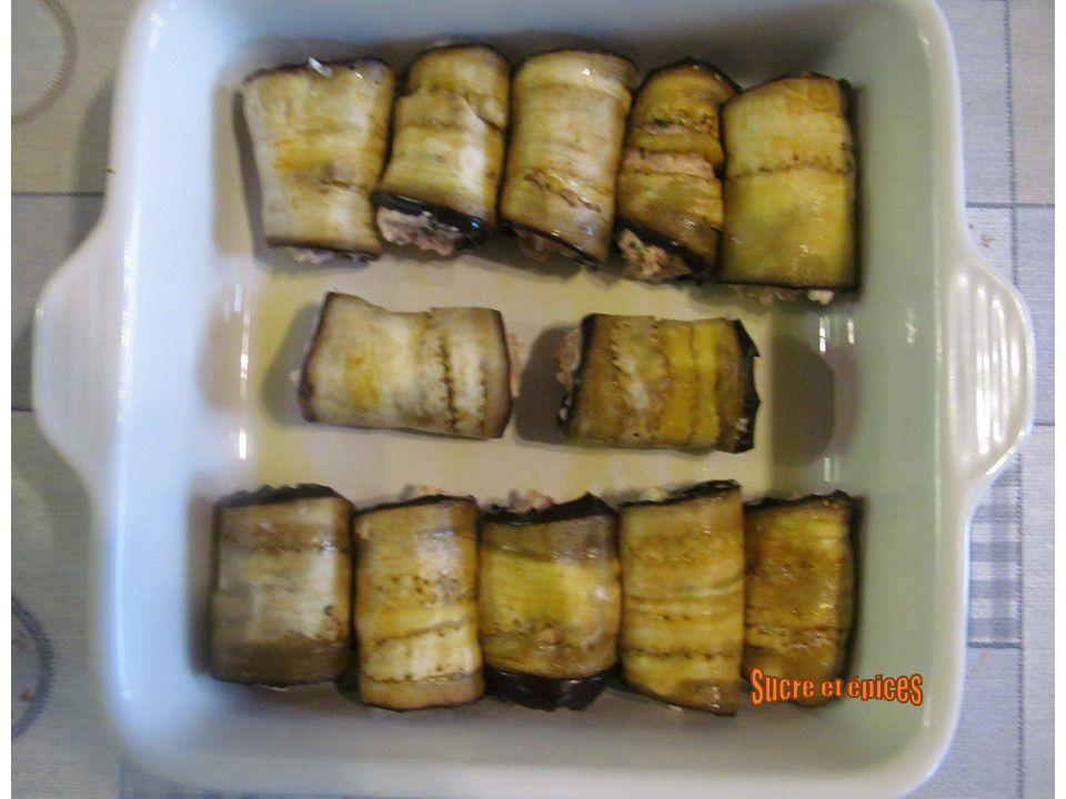 Roulés d'aubergines au thon et mozzarella - Recette en vidéo