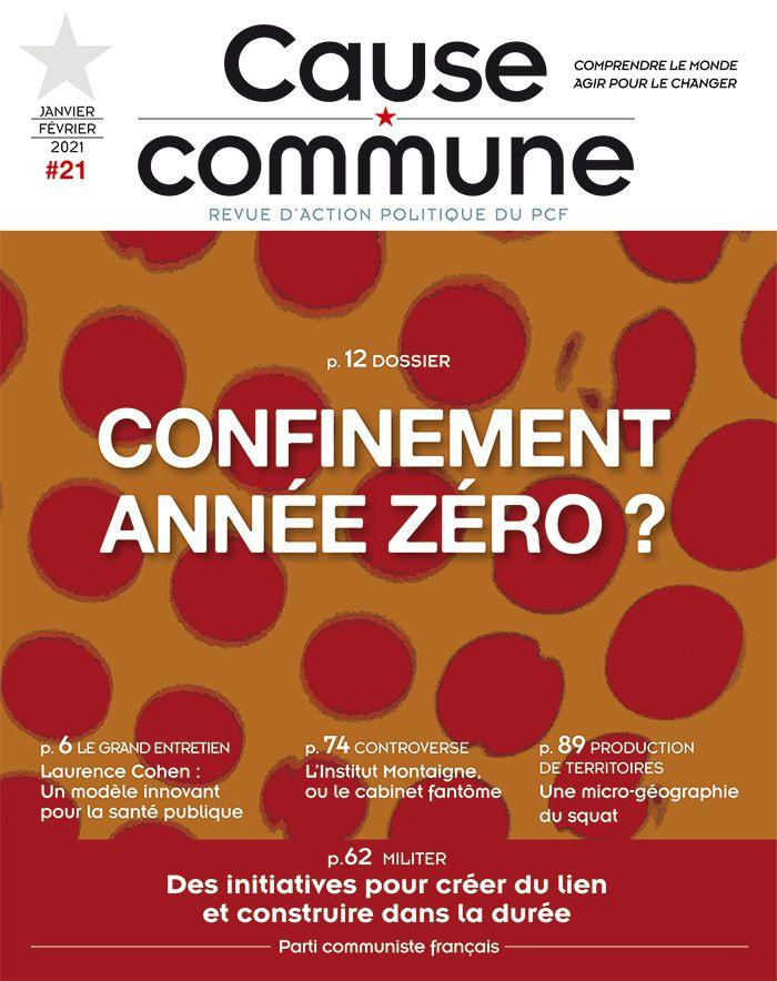A la une du numéro 21 de la revue Cause commune