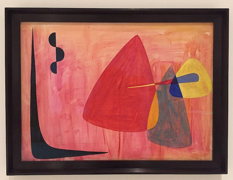 Chaque matin de chaque jour Calder dessinait des gouaches colorées autour de thèmes mariant la nature, le cosmos, les fleurs..