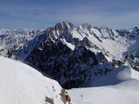 Départ de l'Aiguille du Midi