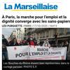 À Paris, la marche pour l'emploi et la dignité converge avec les sans-papiers