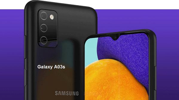 Samsung Galaxy A03s avec le Soc Helio P35 et une batterie 5000 mAh