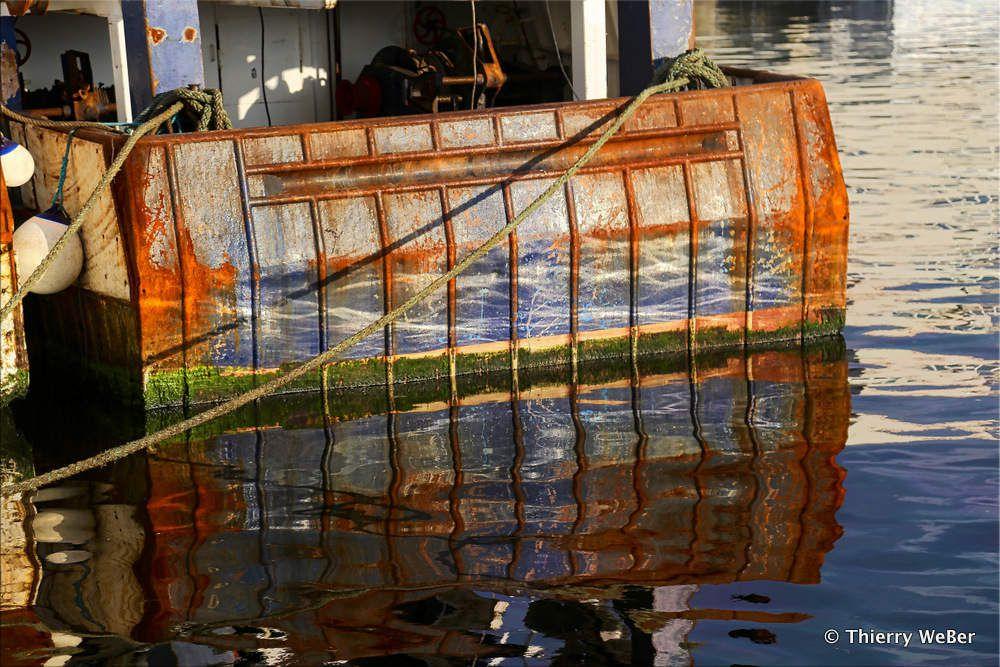 Reflets de port de pêche