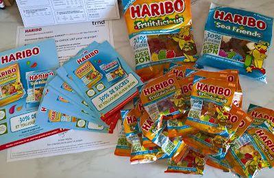 teste de produit: HARIBO Fruitilicious et Sea Friends 30 % moins de sucres